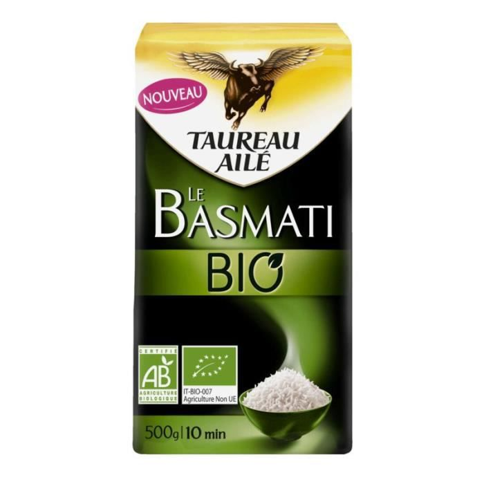 Riz long Basmati bio 500g Taureau Ailé