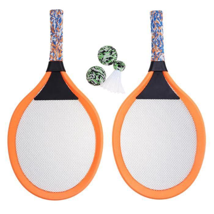 1 paire de raquettes de tennis pour enfants jouant au badminton ovales accessoires de KIT TENNIS - PACK TENNIS - ENSEMBLE TENNIS