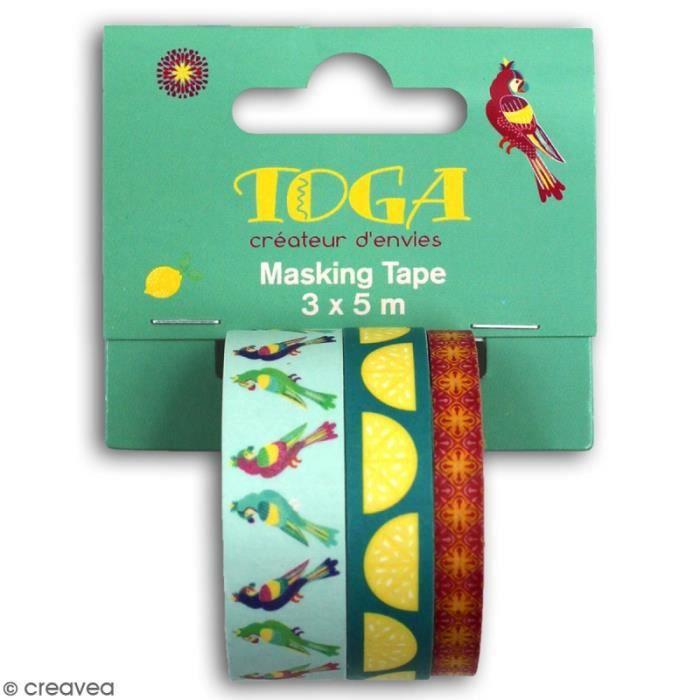 Masking tape Toga - Hacienda à Cuzco - 3 pcs
