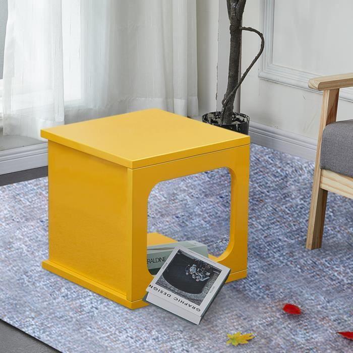 Table D Appoint Cube Black Avec Espace De Rangement Petite