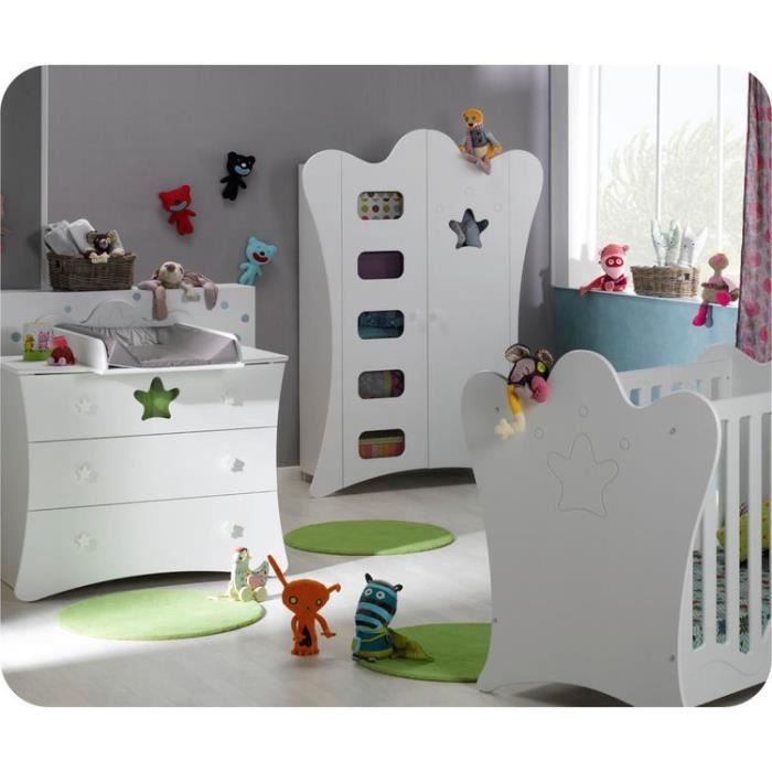 chambre b b compl te king blanche achat vente chambre compl te b b 2009986769343 soldes. Black Bedroom Furniture Sets. Home Design Ideas