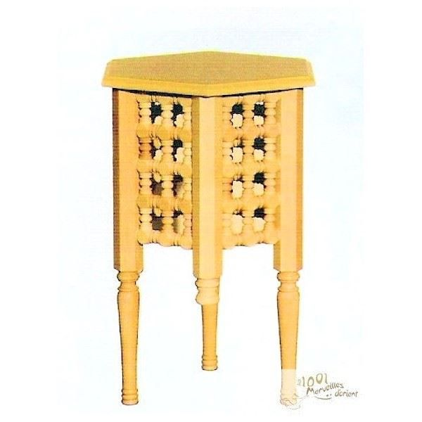 Petite table basse marocaine moucharabieh en bo achat for Petite table basse bois