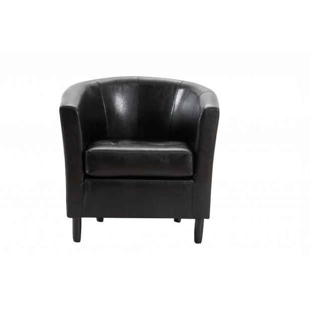 fauteuil cabriolet bycast noir achat vente fauteuil. Black Bedroom Furniture Sets. Home Design Ideas
