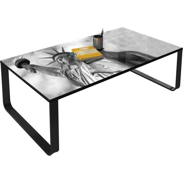 table basse d corative 105 cm new york vintage achat vente table basse table basse. Black Bedroom Furniture Sets. Home Design Ideas