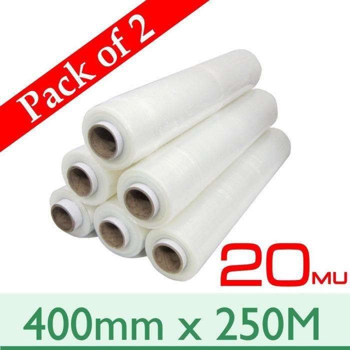 6 Rouleaux ext Core palette Stretch Film Plastique Transparent 250 m