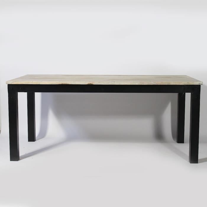 table bois et m tal bois achat vente table a manger seule table bois et m tal bois. Black Bedroom Furniture Sets. Home Design Ideas