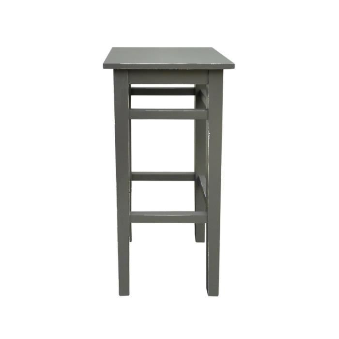 Bouret de bar en pin massif gris fonce achat vente tabouret de bar cd - Tabouret de bar en pin ...