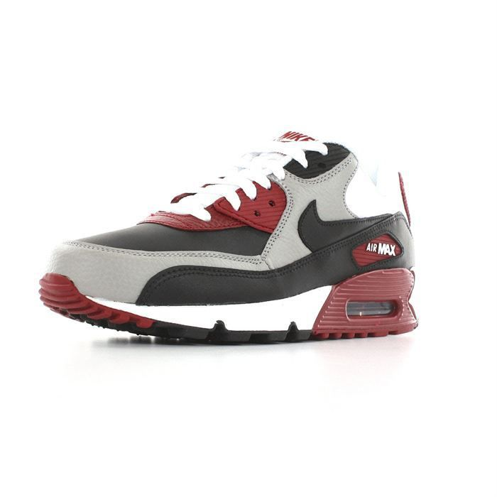 Nike - Air max 90 Bordeaux, noir et blanc - Cdiscount Chaussures