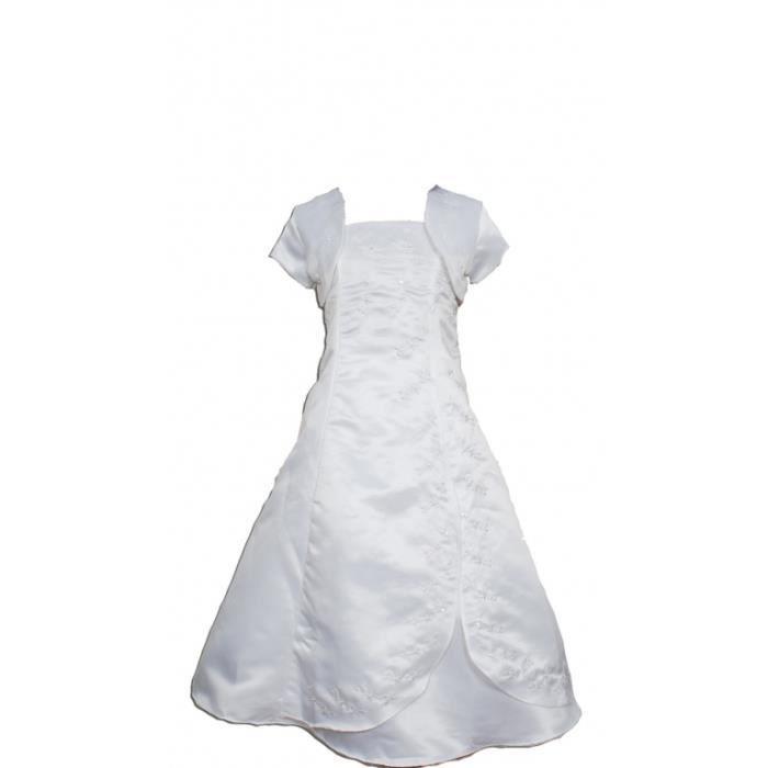 Robe Communion Blanc Achat Vente Pas Cher