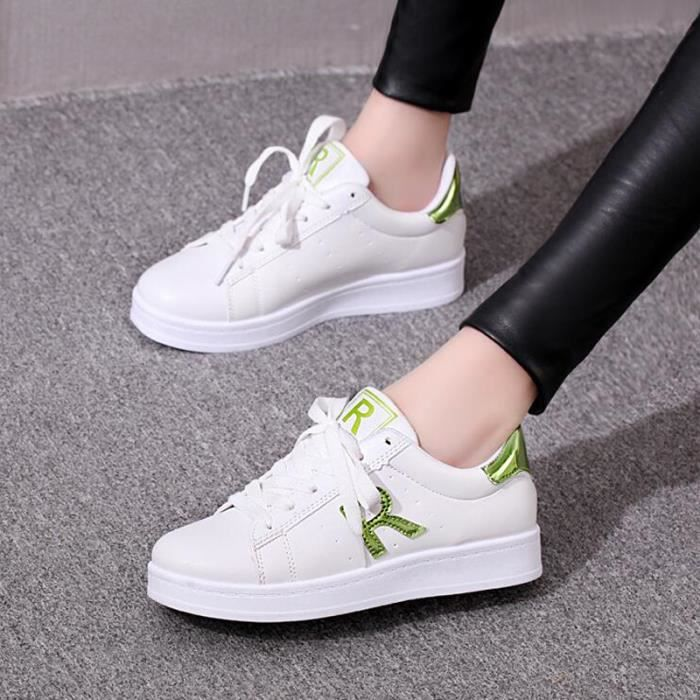 kianii chaussures femme basket femme 2016 blanc blanc blanc achat vente basket soldes. Black Bedroom Furniture Sets. Home Design Ideas