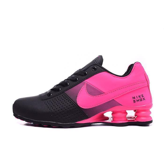Femme Nike Shox Deliver Baskets Chaussures De Sport Noir ...