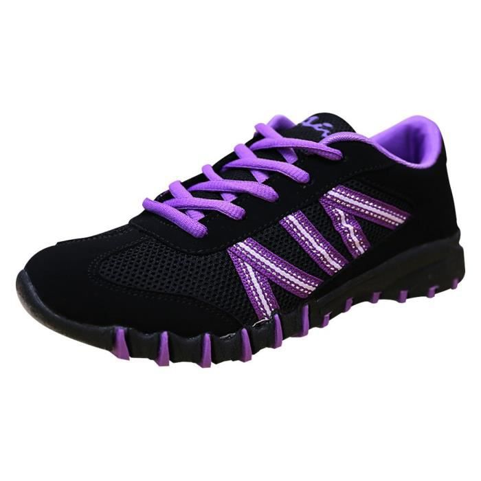 Breathable Mesh Striped Fashion Trainer Sneaker DK76A Taille-38