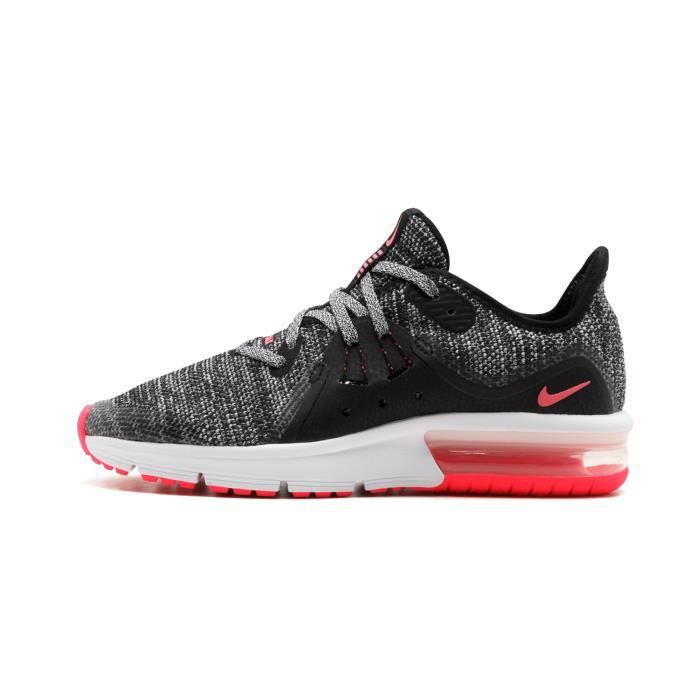 best loved 9eff3 2a2fc BASKET-FILLE NIKE AIR MAX SEQUENT 3 GS 922885 - 001 NOIR