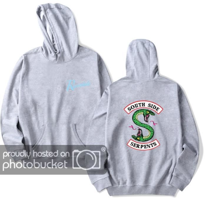 Femme Sweat Pull Capuche Serpents Riverdale Rayures Side South À rHx4qdr