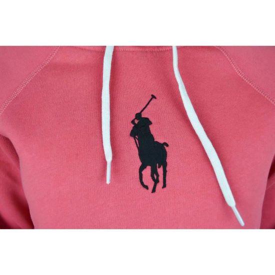 Sweat à capuche Ralph Lauren rouge big pony noir pour femme Couleur: Rouge Taille: L