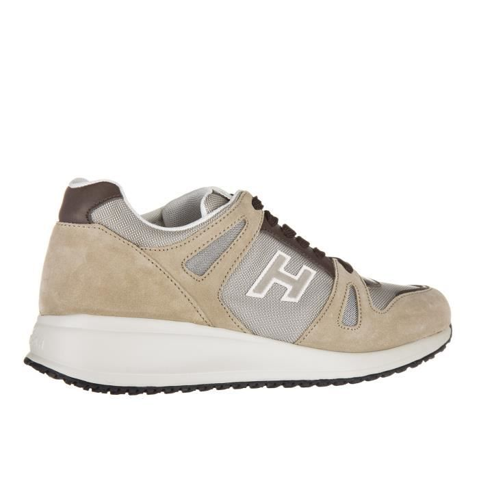 Chaussures baskets sneakers homme en daim interactive sportivo h flock Hogan