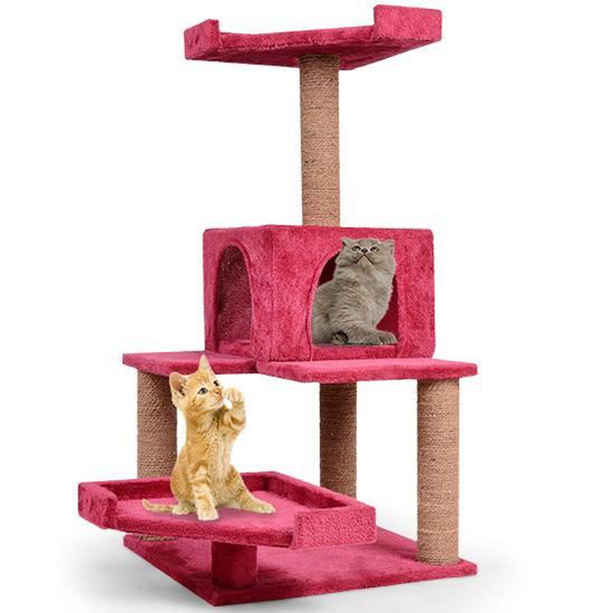 Griffoir Chat Carton Design arbre à chat pas cher griffoir design unique bordeaux de