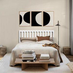 STRUCTURE DE LIT Aingoo lit en bois - 140 x 190 cm - Pour adulte -