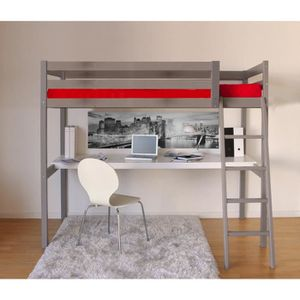 lit mezzanine adulte achat vente pas cher. Black Bedroom Furniture Sets. Home Design Ideas