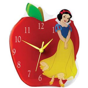 HORLOGE - PENDULE Horloge en verre Blanche Neige