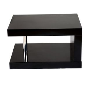 Table de chevet noir laqu daphne achat vente chevet jolie petite table de cheve for Table de chevet noir