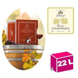 VIN ROUGE CUBI 22L Vin de France Cuvée rouge 12° Chamvermeil
