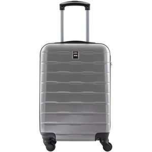 VALISE - BAGAGE CITY BAG Valise Cabine ABS 4 Roues Silver