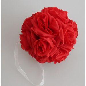FLEUR ARTIFICIELLE Rouge  Bouquet de mariage boule de rose fleur arti