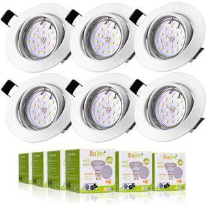 SPOTS - LIGNE DE SPOTS BOJIM Lot de 6 LED Spots Encastrables GU10 -Blanc
