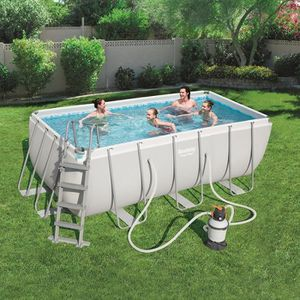 Piscine hors sol rectangulaire achat vente piscine for Piscine tubulaire bestway