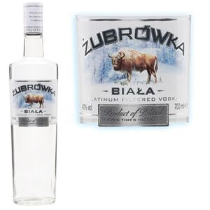 VODKA Zubrowka biala Vodka 70cl