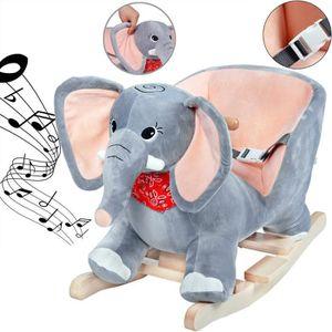 JOUET À BASCULE Eléphant à bascule, animal avec ceinture de sécuri