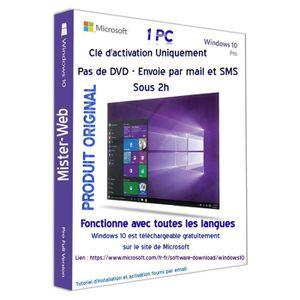 CLÉ USB Licence pour Windows  10 Pro OEM édition  Uniqueme