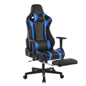 SIÈGE GAMING LANGRIA Chaise de Bureau Gaming en PU Cuir avec Re