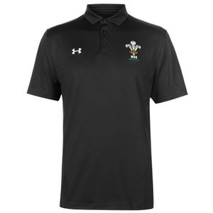 T-SHIRT MAILLOT DE SPORT Under Armour Wales Team Polo Manche Courte Hommes 2c536ba682ed