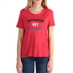 T-SHIRT Facto Femme Tee Shirt Rouge Kaporal