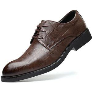 Boucle Oxford Derby Pointu-Toe Angleterre daffaires Moccasins Mariage Business Dressing Noir Marron Gris Rouge 38-48 EU Chaussures Homme Ville Cuir