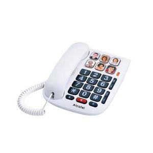Téléphone fixe Téléphone fixe Alcatel TMax 10 Blanc