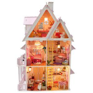 Set de 3 balais en bois maison de poupées miniatures
