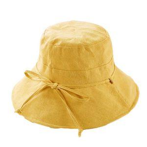 Kentop Chapeau de Seau Bobs P/êcheur Protection de Soleil Hat Femme Chapeau De Visi/ère Couleur Unie avec Noeud Papillon pour Randonn/ée Plage Camping
