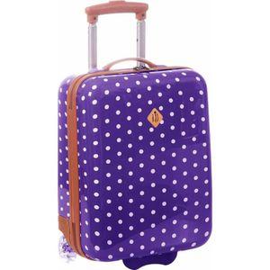 VALISE - BAGAGE Valise cabine violette à pois 32,0 (L) x 45,0 (H)
