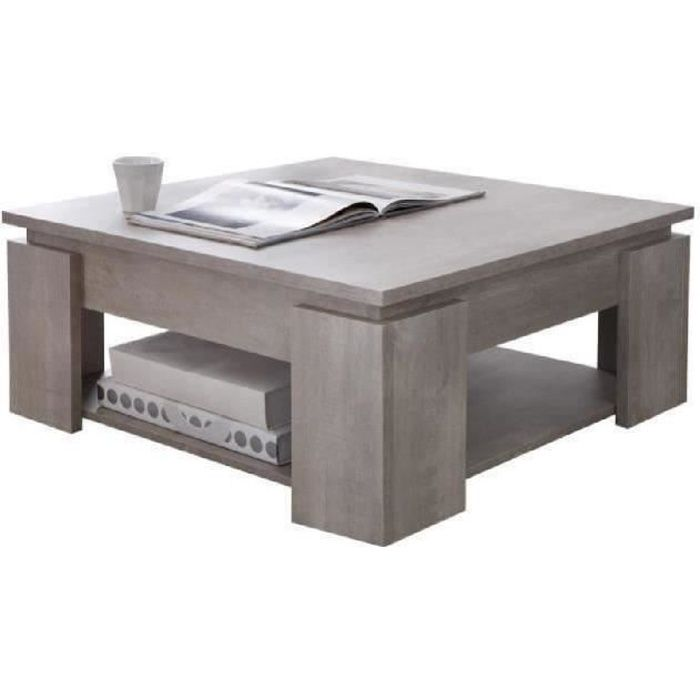 Segur table basse 80x80cm coloris ch ne achat vente - Table basse 80 x 80 ...