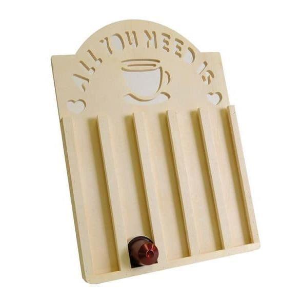 Support en bois pour capsules à café - Artémio Marron