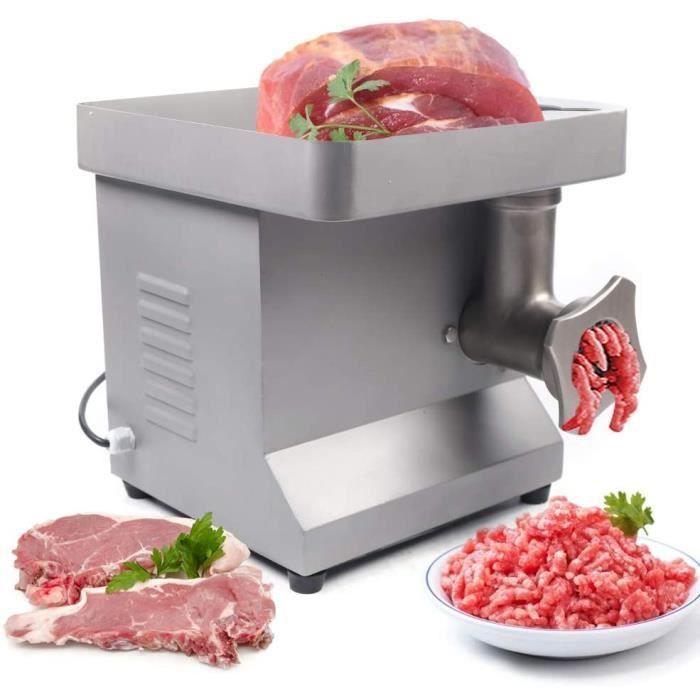 850W Hachoir à viande électrique 250 kg / h Magasin professionnel en acier inoxydable