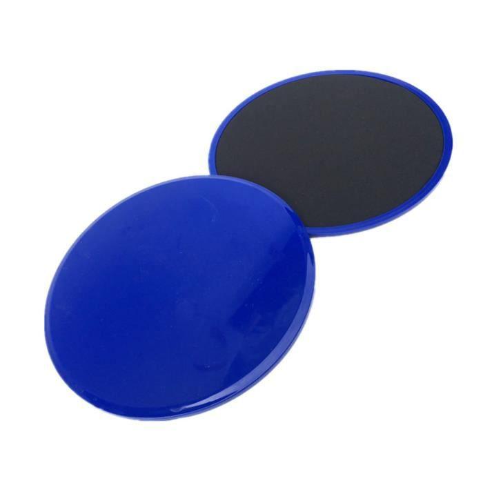 2Pcs Curseurs de base de disques de glisse de forme physique pour des entraînements de jambe d'ABS de gymnase à la maison ke9217