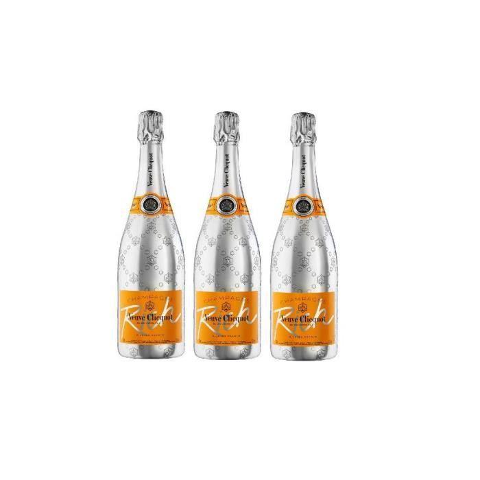 Lot de 3 Champagnes Veuve Clicquot Rich 75cL