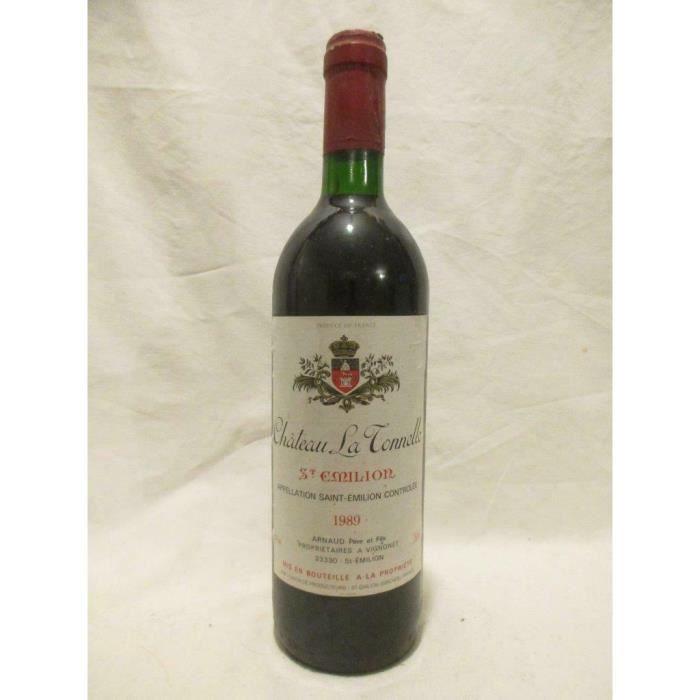 saint-émilion château la tonnelle rouge 1989 - bordeaux france