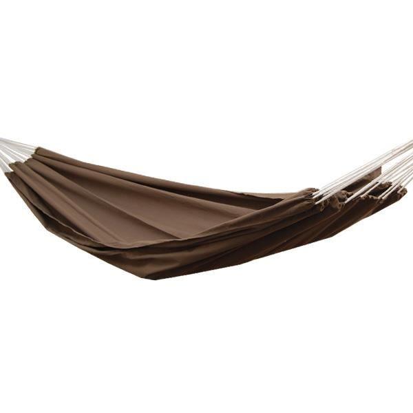 Hamac XXL pour deux personnes 400x160cm - Jusqu'à 150 kg - 100% coton - Hamacs Amanka plus de monde ensemble - couleur marron