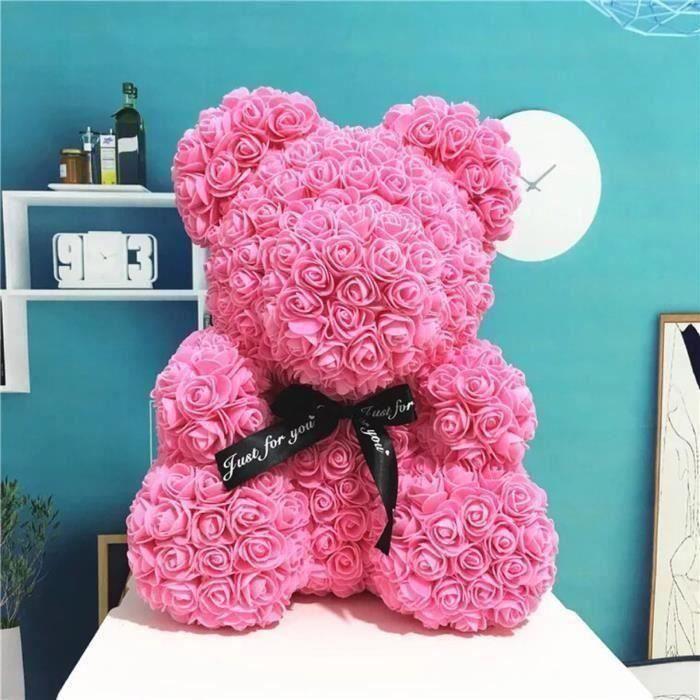 ZN*Rose Flower Saint Valentin Ours Des Rose pour Cadeau d'anniversaire, Cadeau de la Saint-Valentin, Décoration de Mariage