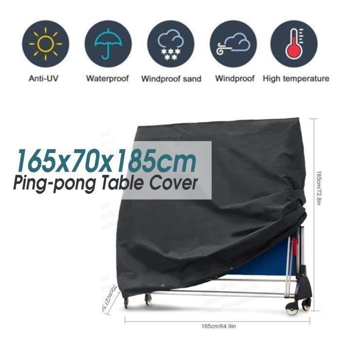 Table de ping-pong Couverture En Tissu Oxford 165x70x185cm ma76127
